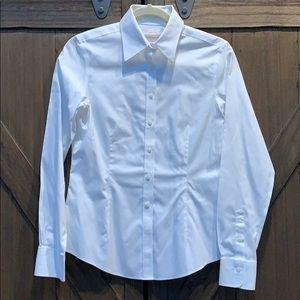 EUC Brooks Brothers white cotton button down, Sz 2
